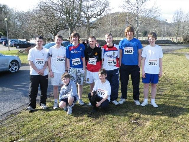 Picture of Boys and Staff before the Fun Run